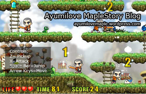 Ayumilove plays the 1st MapleStory Flash Game
