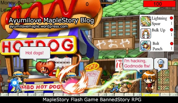 MapleStory Flash Game BannedStory RPG (Beta)