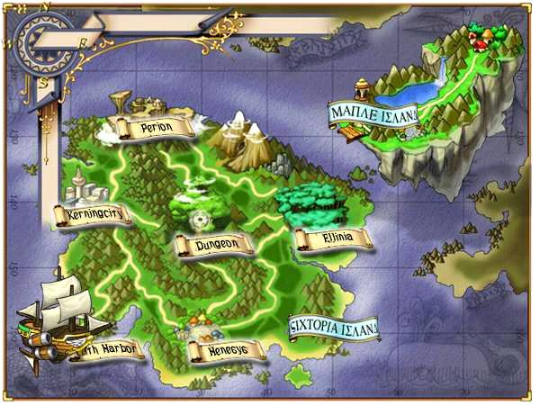 COMPLETE MAPLESTORY MAP – Town + Continent