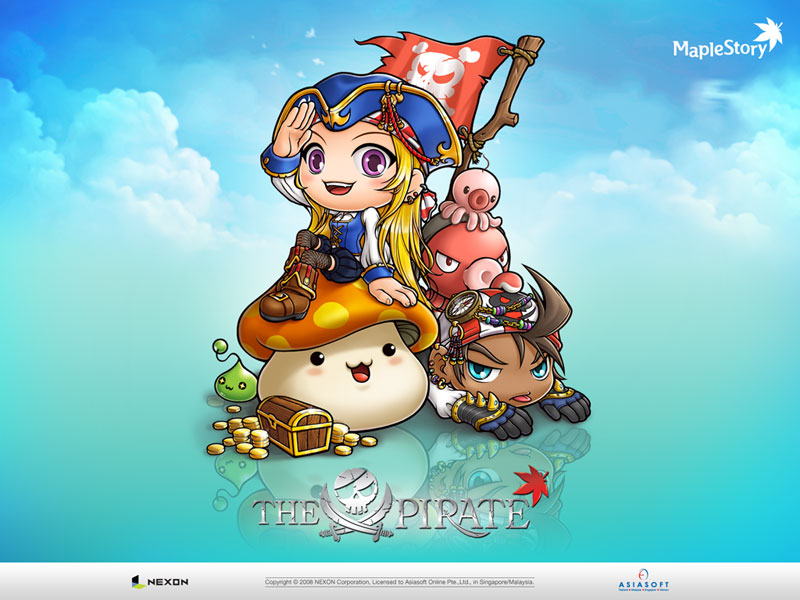 maplestory halloween and pirate wallpapers from maplesea